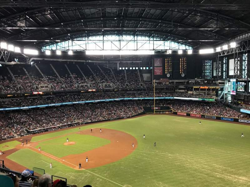 Seating view for Chase Field Section 304 Row 12 Seat 1