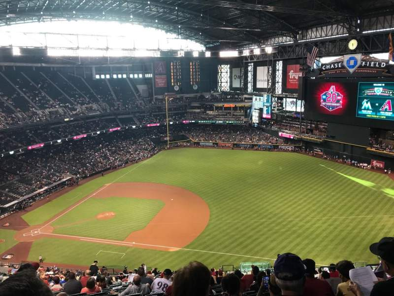 Chase Field, section: 307, row: 31, seat: 7