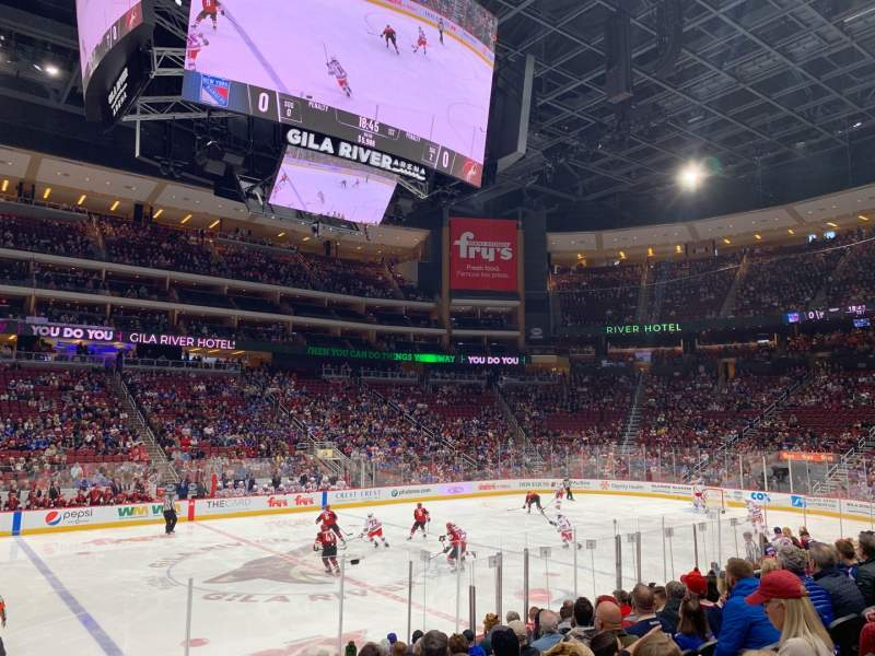 Seating view for Gila River Arena Section 113 Row L Seat 1