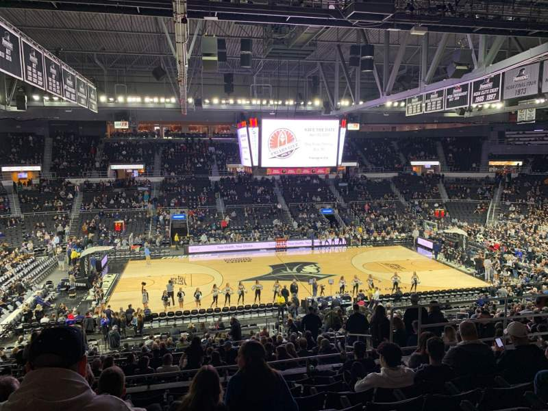 Seating view for Dunkin' Donuts Center Section 212 Row H Seat 8
