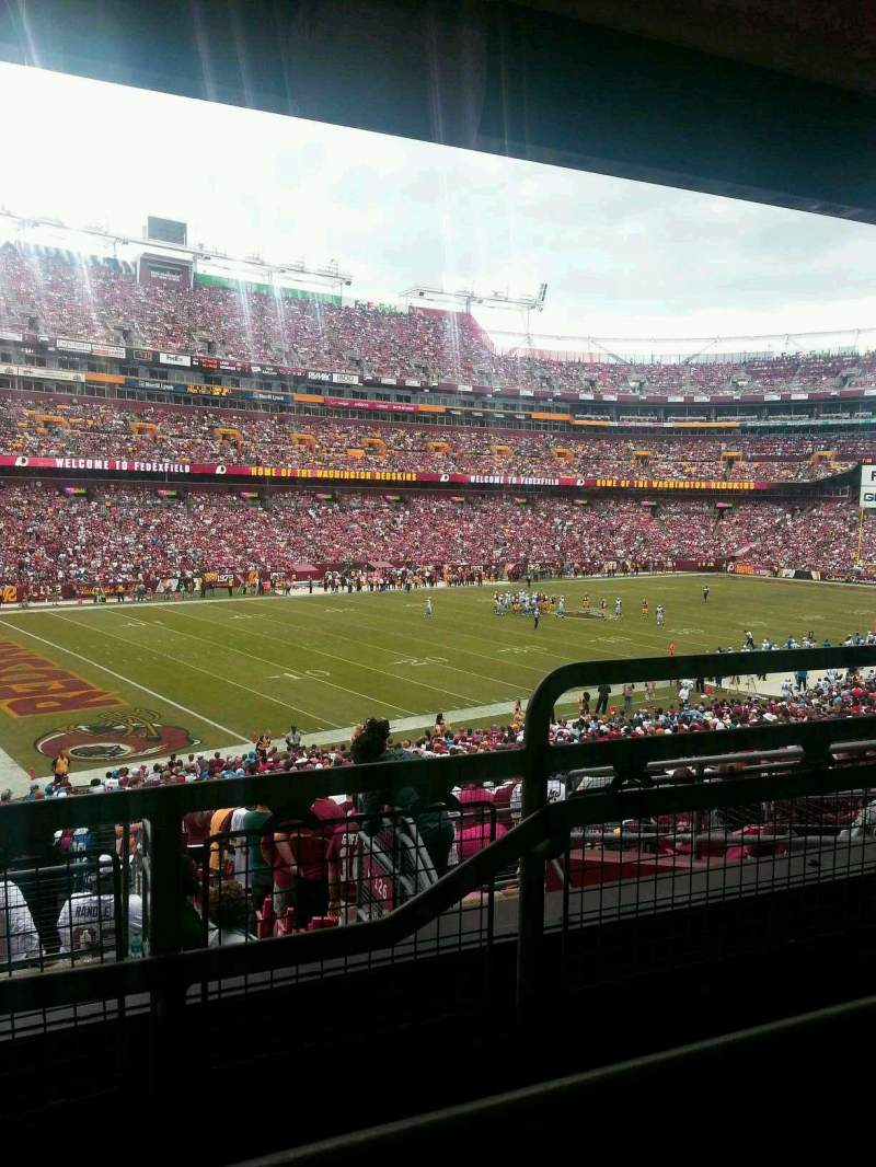 Seating view for FedEx Field Section 227 Row 8 Seat 2