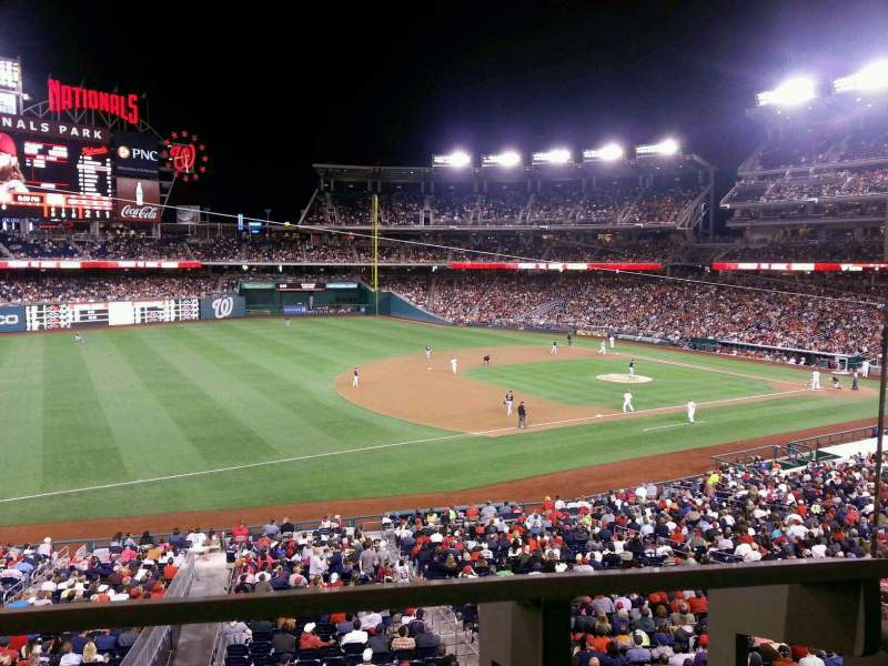 Seating view for Nationals Park Section 205 Row A Seat 1