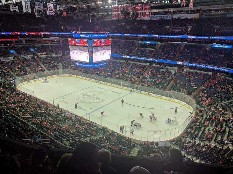 Seating view for Verizon Center Section 404 Row D Seat 5