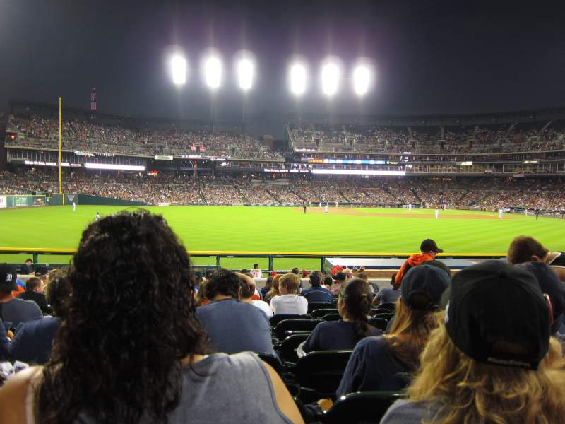 Seating view for Comerica Park Section 150 Row N Seat 11