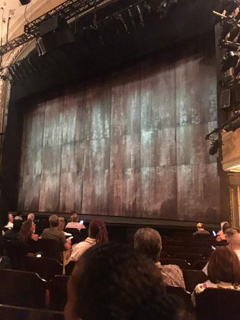 Seating view for Bernard B. Jacobs Theatre Section ORCH Row K Seat 14