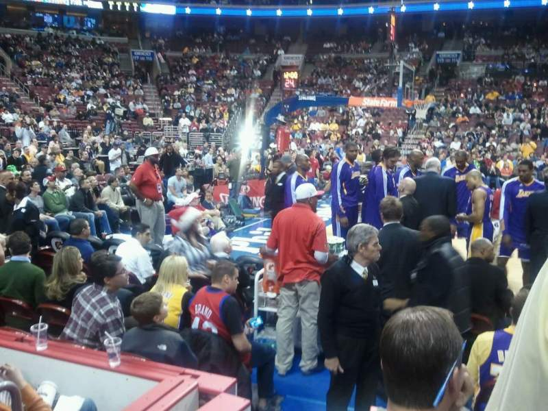 Seating view for Wells Fargo Center Section 124 Row 3 Seat 10