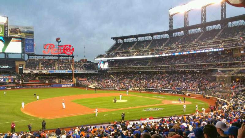Seating view for Citi Field Section 124 Row 31 Seat 1
