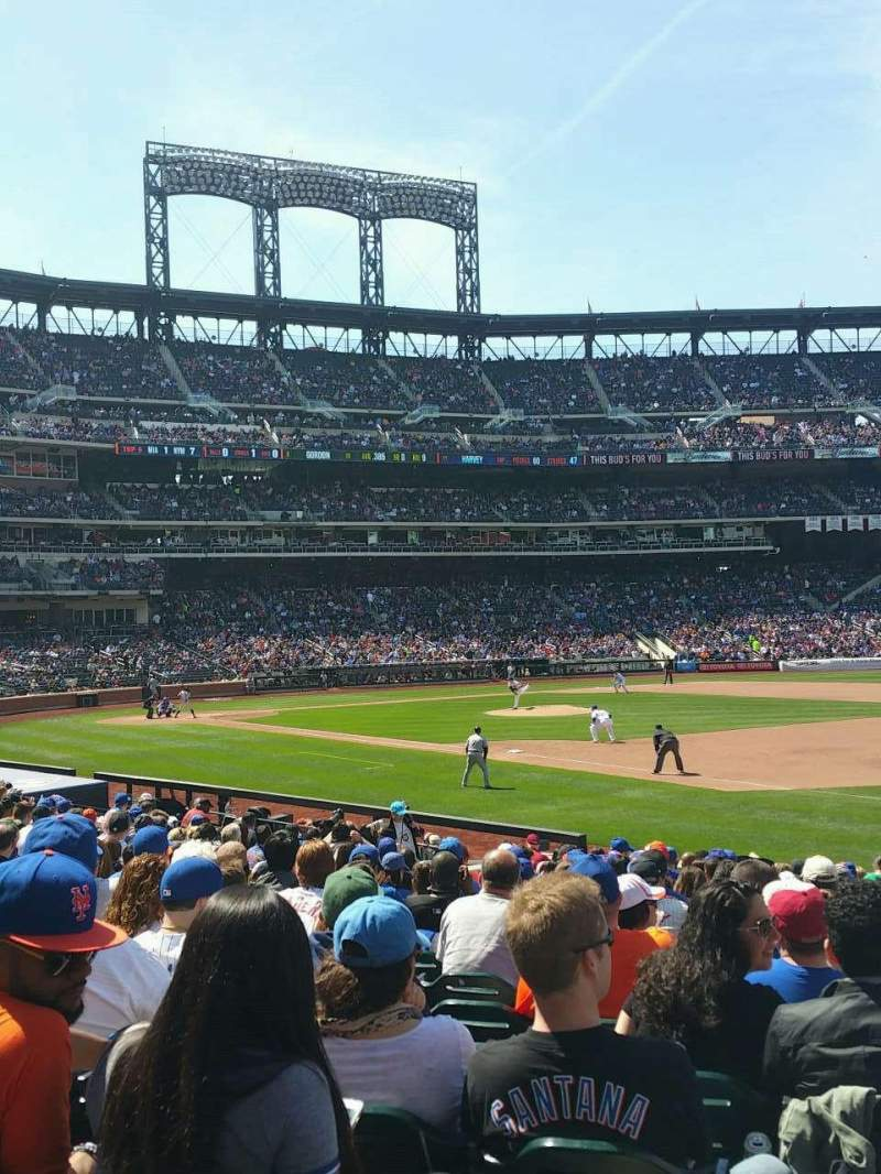 Seating view for Citi Field Section 110 Row 16 Seat 19