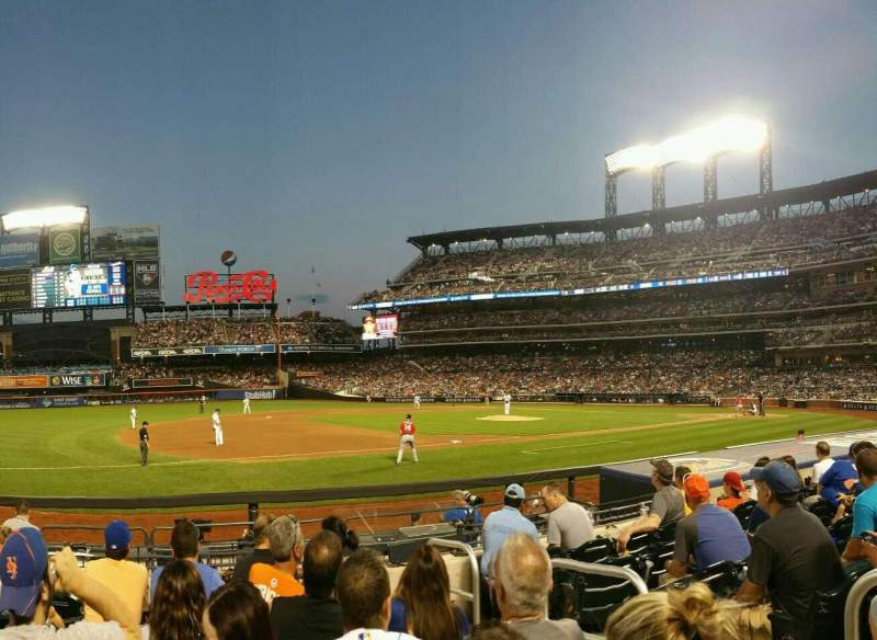 Seating view for Citi Field Section 124 Row 6 Seat 3