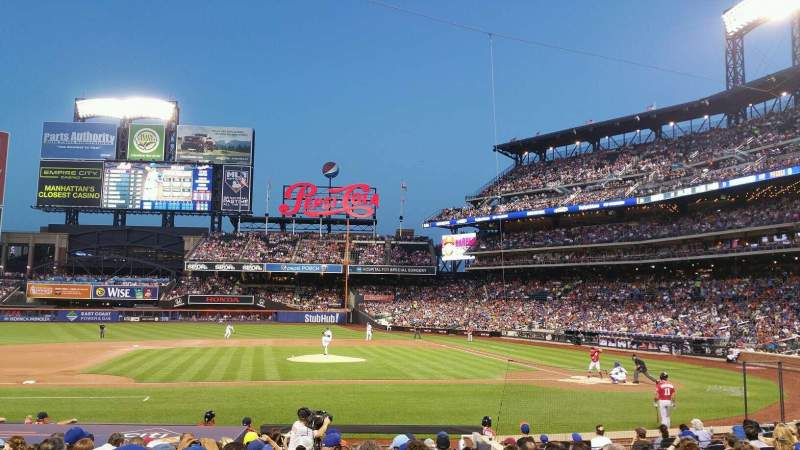 Seating view for Citi Field Section 121 Row 12 Seat 7