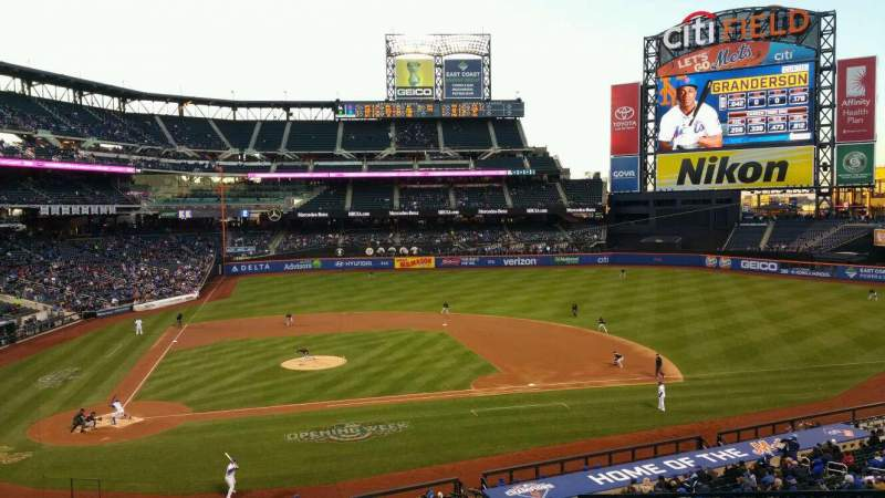 Seating view for Citi Field Section 213 Row 1