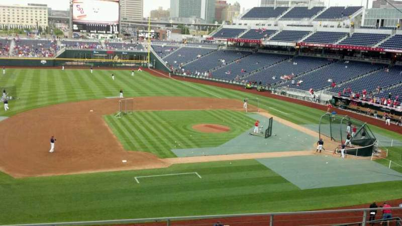 Seating view for TD Ameritrade Park Section 218 Row 5 Seat 14