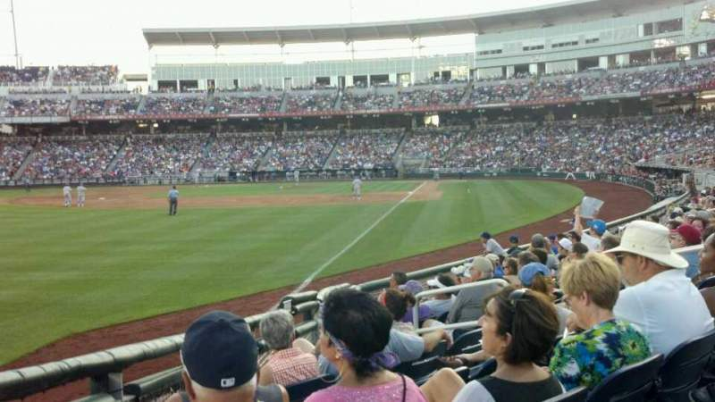 Seating view for TD Ameritrade Park Section 123 Row 11 Seat 10