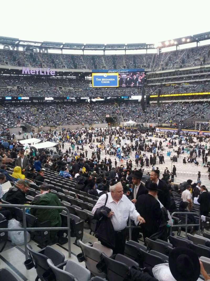 Seating view for MetLife Stadium Section 133 Row 32 Seat 19