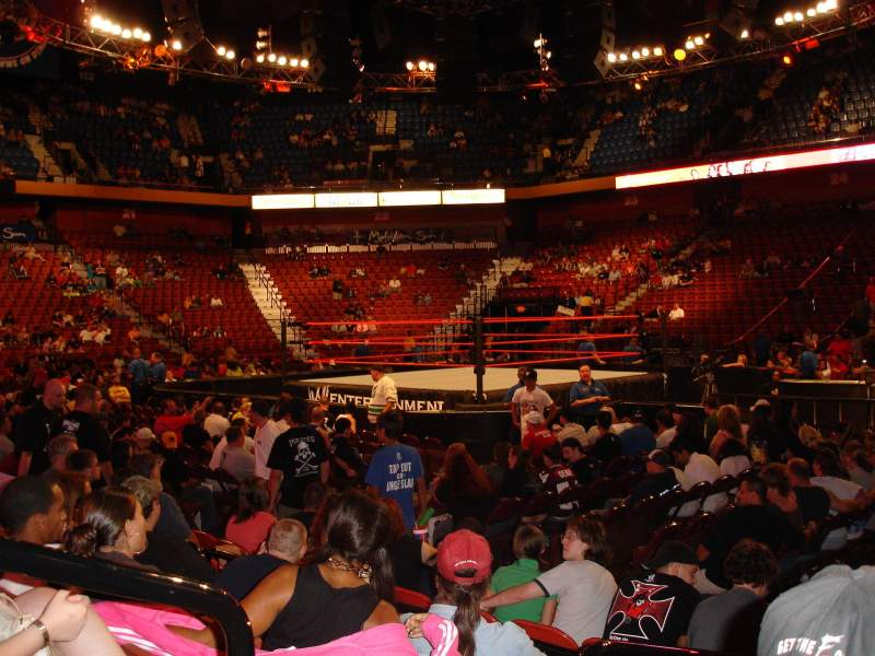 Seating view for Mohegan Sun Arena Section 14