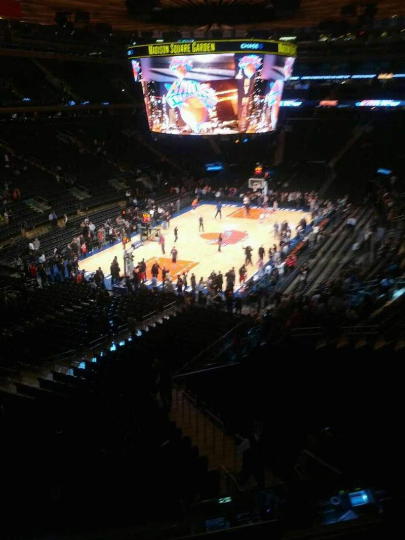 Seating view for Madison Square Garden Section 206 Row 3 Seat 7