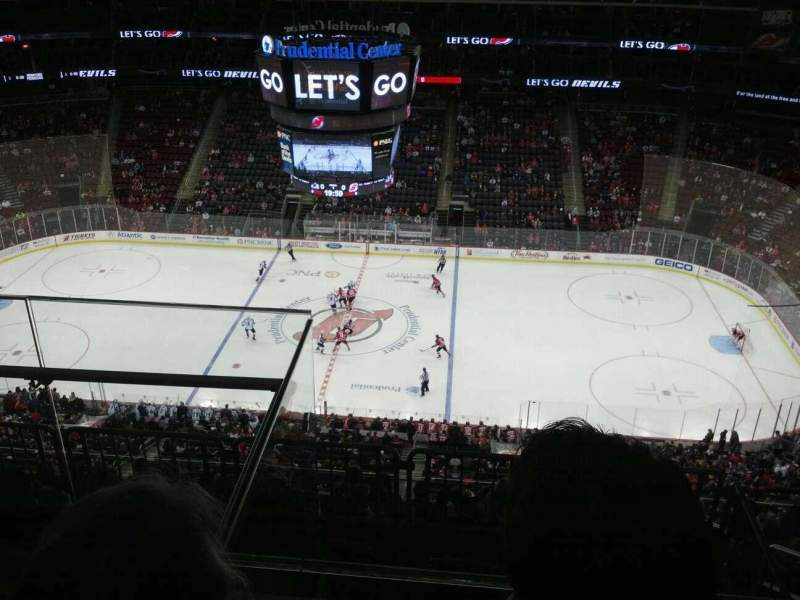 Seating view for Prudential Center Section 213 Row 3 Seat 18