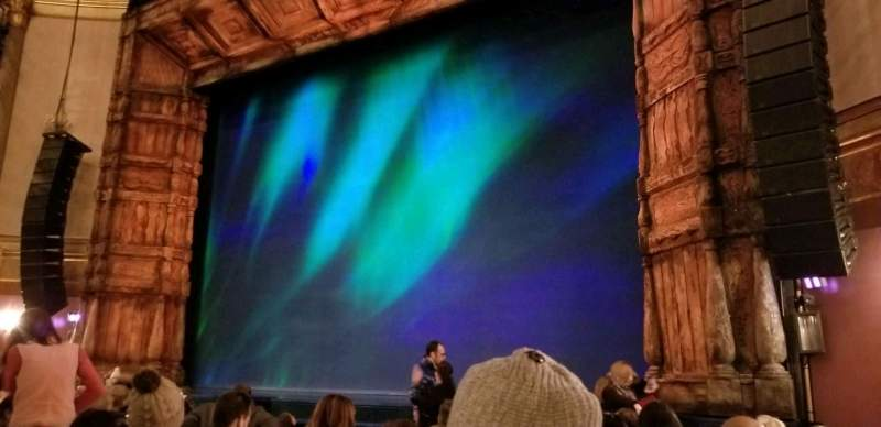 Seating view for St. James Theatre Section Orchestra R Row K Seat 14