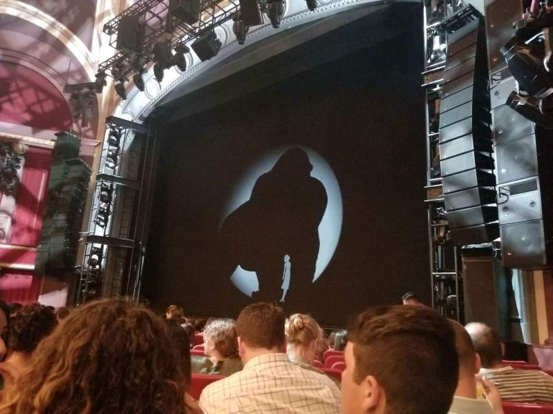 Seating view for Broadway Theatre - 53rd Street Section Orchestra C Row K Seat 119