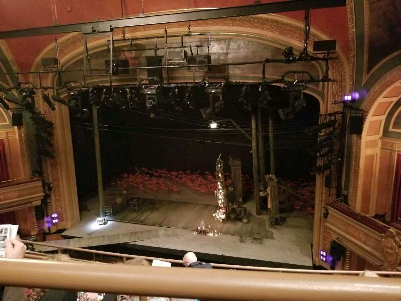 Seating view for American Airlines Theatre Section Rear Mezzanine Row E Seat 111