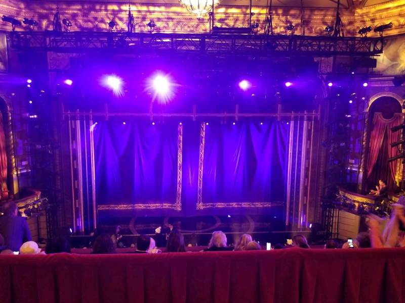Seating view for Brooks Atkinson Theatre Section Rear Mezzanine LC Row E Seat 115