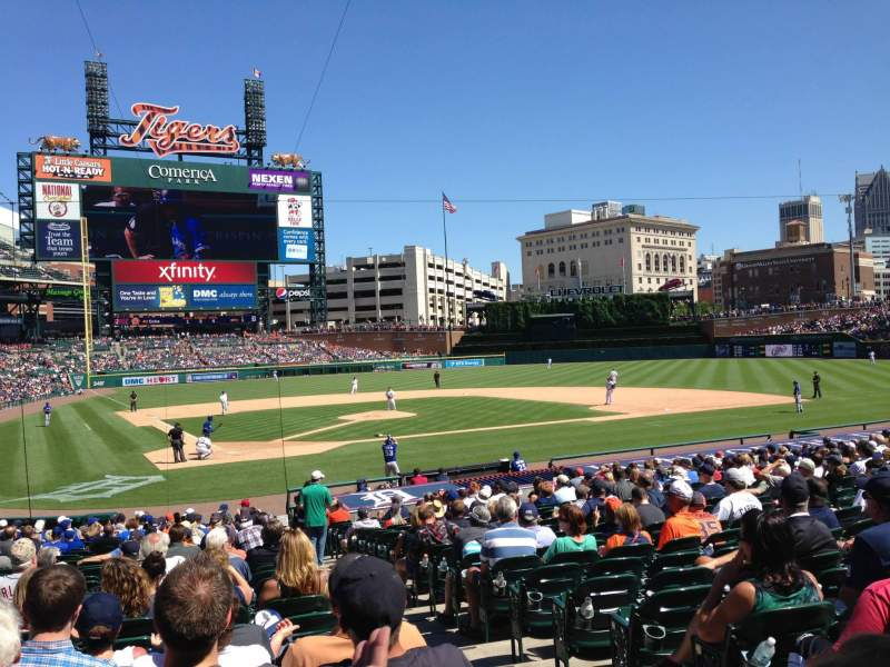 Seating view for Comerica Park Section 125