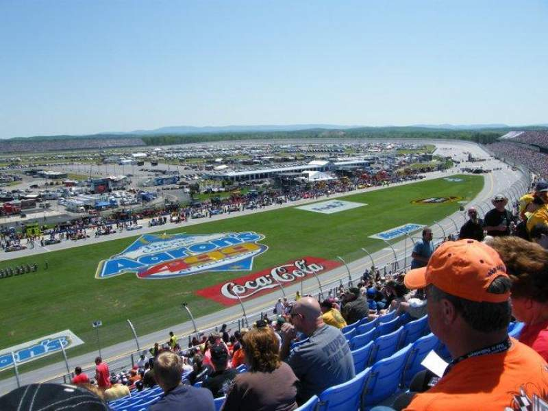 Seating view for Talladega Superspeedway Section R Row 53 Seat 16