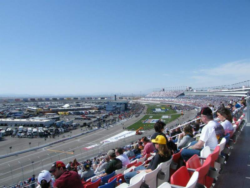 Seating view for Las Vegas Motor Speedway Section ET311 Row 56 Seat 15