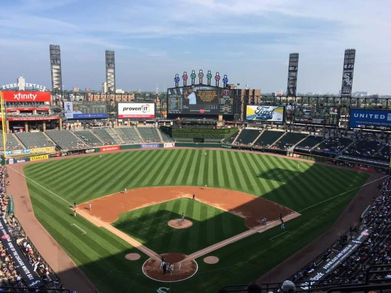 Seating view for Guaranteed Rate Field Section Upper Box 531 Row 11 Seat 1