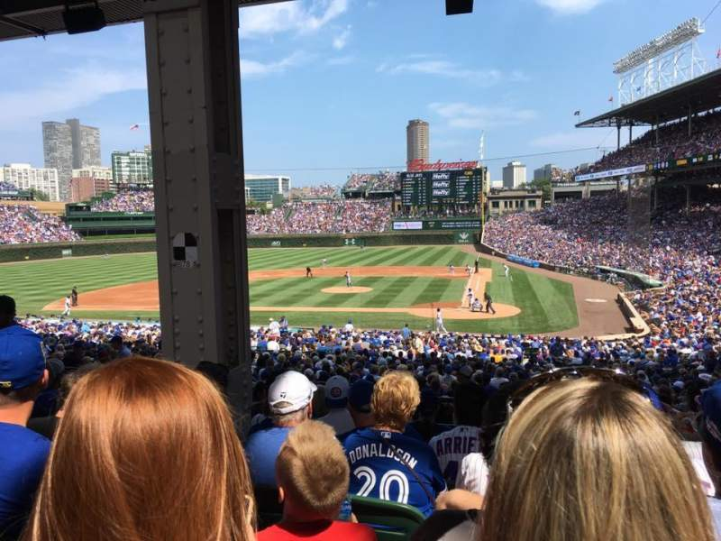 Seating view for Wrigley Field Section 214 Row 10 Seat 10