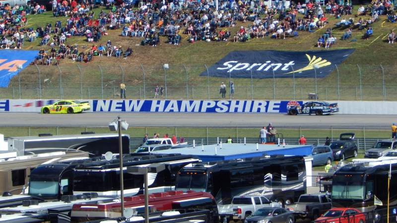 Seating view for New Hampshire Motor Speedway Section CA Row 41 Seat 12