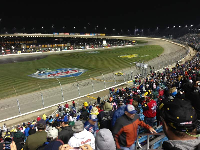 Seating view for Chicagoland Speedway Section 404