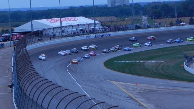 Seating view for Chicagoland Speedway Section 406 Row 31 Seat 9