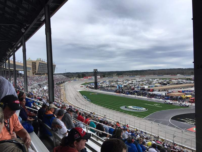 Seating view for Atlanta Motor Speedway Section 245 Row 58 Seat 11