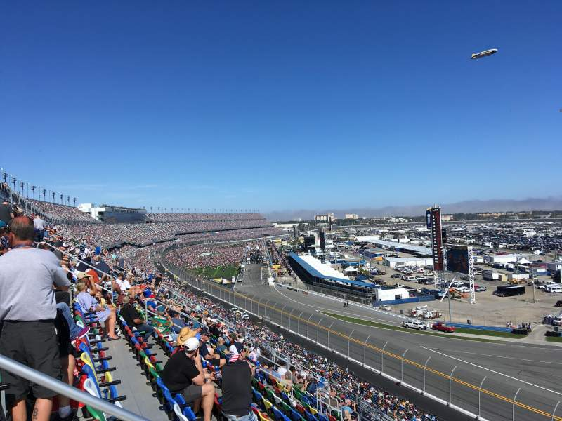 Seating view for Daytona International Speedway Section 391 Row 17 Seat 15