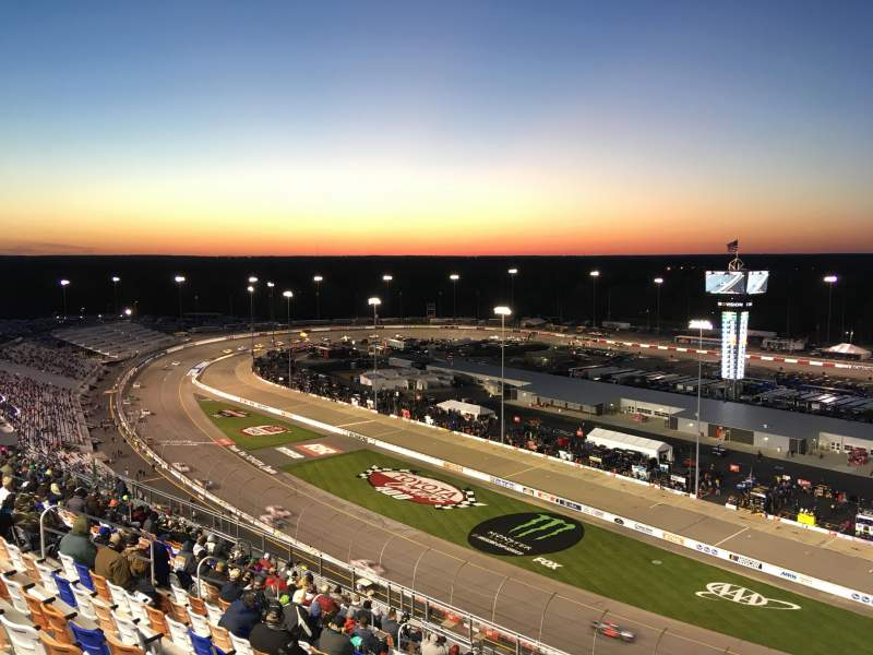 Seating view for Richmond International Raceway Section P Row 22 Seat 1