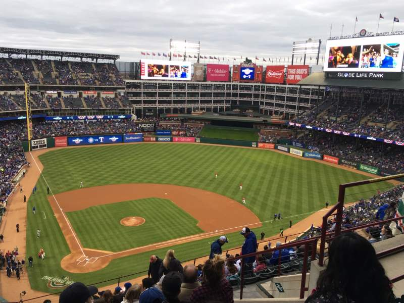 Seating view for Globe Life Park in Arlington Section 329 Row 15 Seat 15