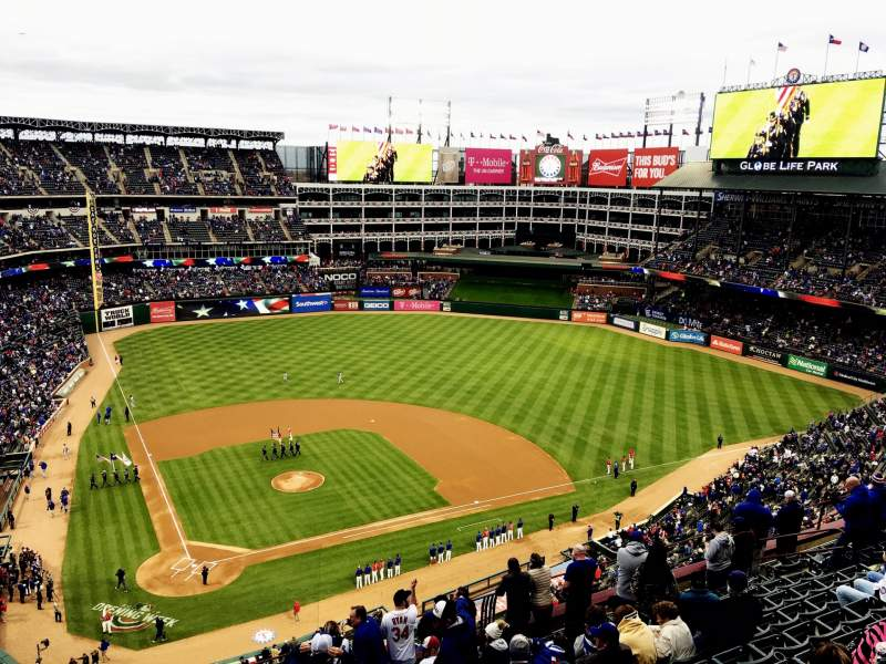 Seating view for Globe Life Park in Arlington Section 329 Row 16 Seat 22