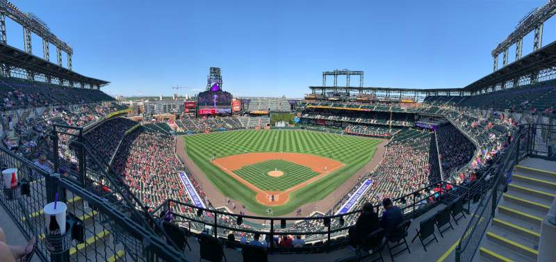 Seating view for Coors Field Section U330 Row 10 Seat 12