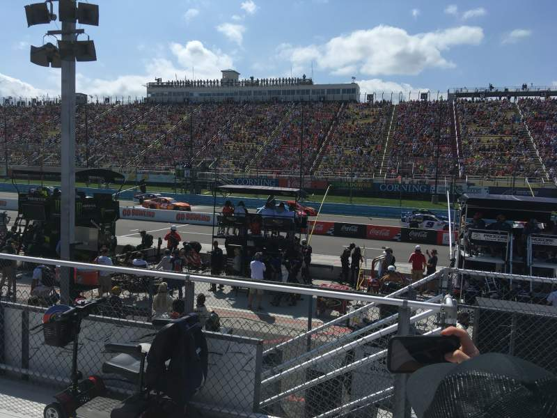 Seating view for Watkins Glen International Section 14 Row 3 Seat 1