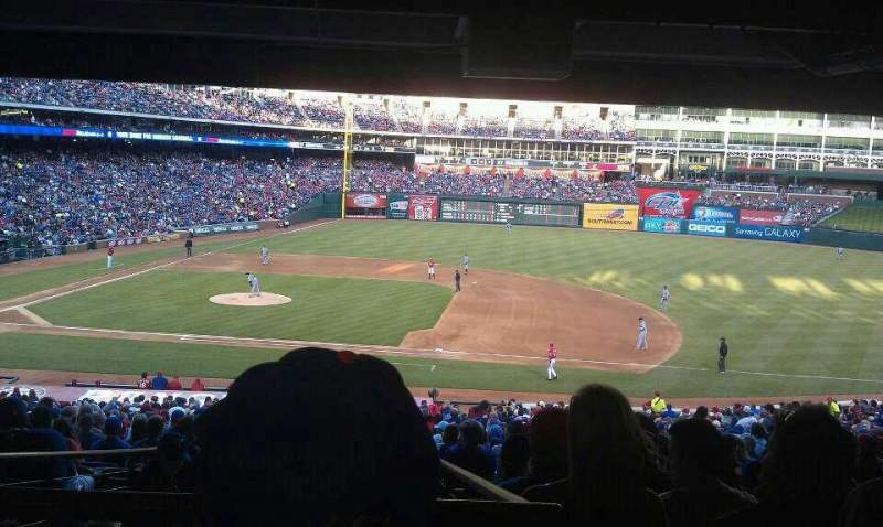 Seating view for Globe Life Park in Arlington Section 134 Row 39 Seat 11