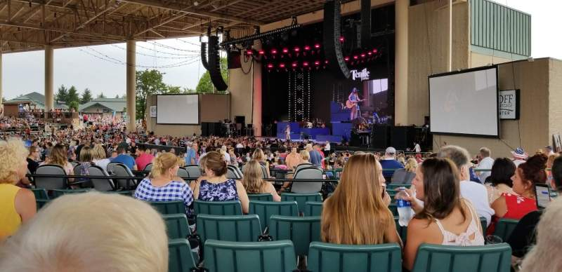 Seating view for Ruoff Home Mortgage Music Center Section H Row L Seat 17