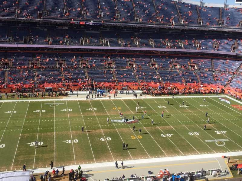 Seating view for Sports Authority Field at Mile High Section 536 Row 6 Seat 14