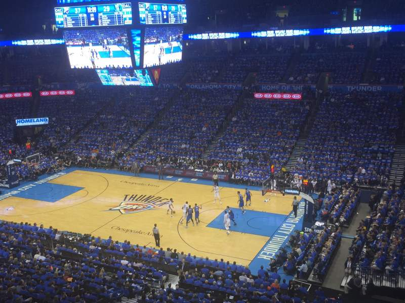 Seating view for Chesapeake Energy Arena Section 306 Row A Seat 7