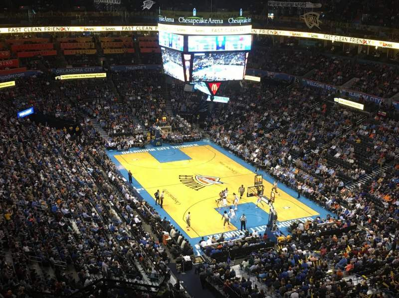 Seating view for Chesapeake Energy Arena Section 318 Row M Seat 19