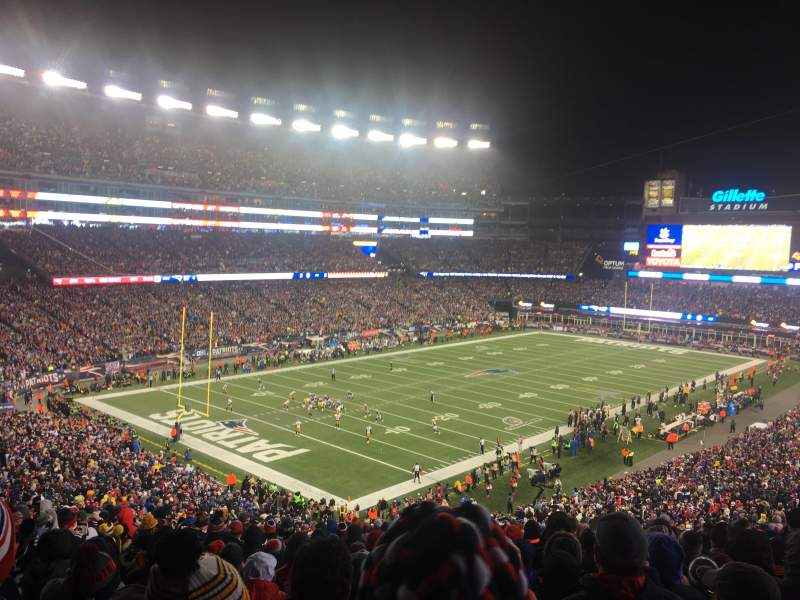 Seating view for Gillette Stadium Section 238 Row 21 Seat 23