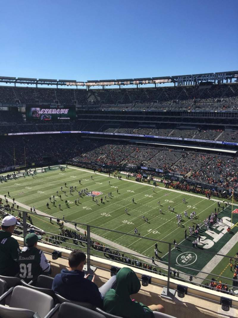 Seating view for MetLife Stadium Section 308 Row 4 Seat 9