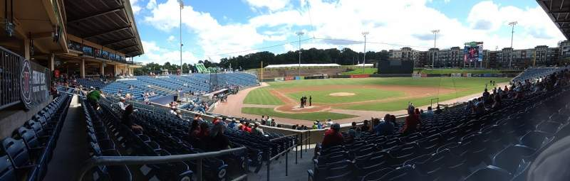 Seating view for Coolray Field Section 102 Row T Seat 1