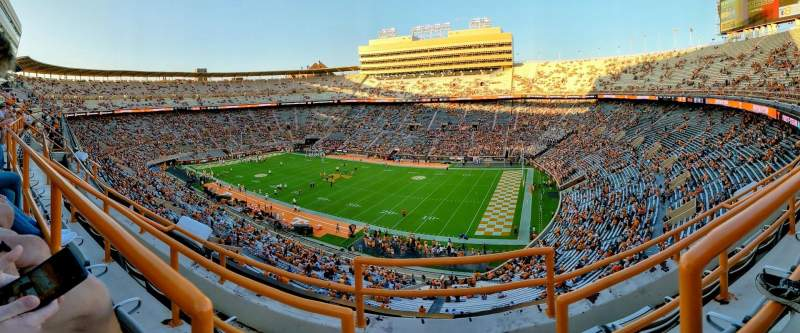 Seating view for Neyland Stadium Section QQ Row 1 Seat 23