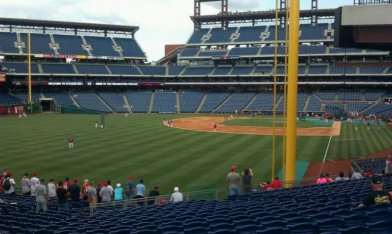 Seating view for Citizens Bank Park Section SRO Row 1